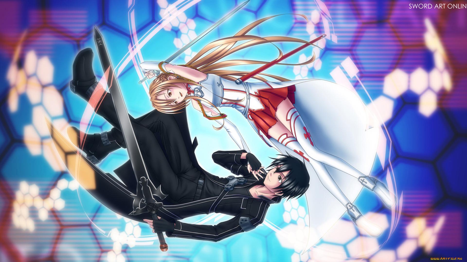 аниме, sword, art, online